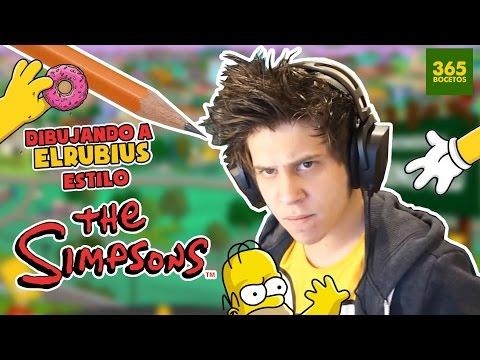 Como dibujar a ElRubiusOMG al estilo Simpsons
