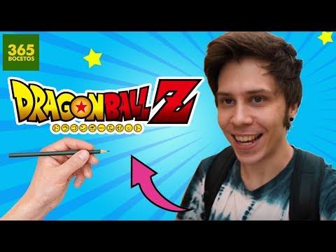 Como dibujar a ElRubiusOMG estilo Dragon Ball Z fácil