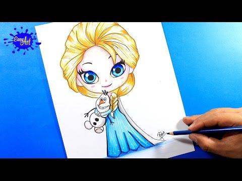 Como dibujar a Elsa de Frozen estilo Manga