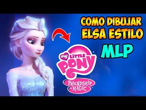 Como dibujar a Elsa de Frozen estilo My Little Pony