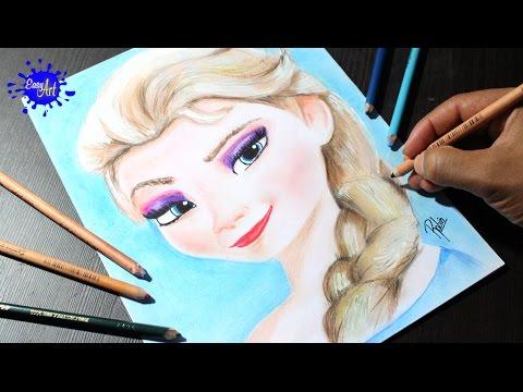 Como dibujar a Elsa de Frozen paso a paso