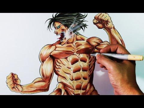 Cómo dibujar a Eren en forma de Titán