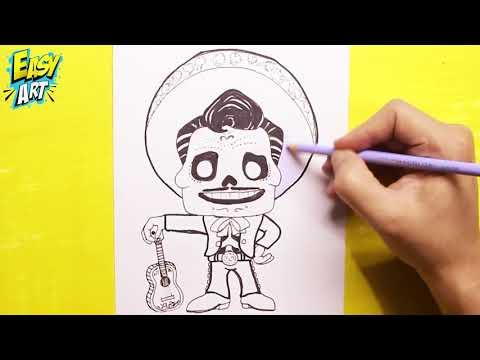 Como dibujar a Ernesto de la Cruz de Coco
