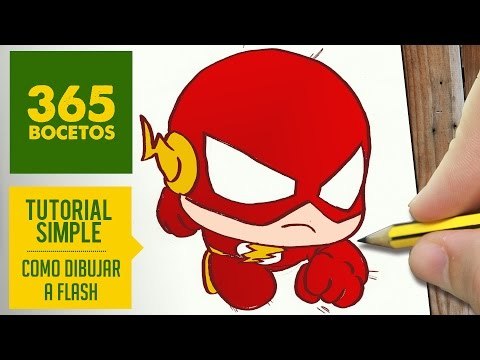 Como dibujar a flash fácil