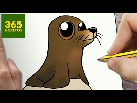 Como dibujar a Fluke de Buscando a Dory kawaii