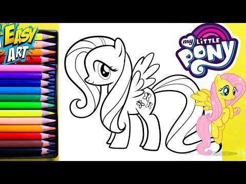 Como dibujar a Fluttershy de My Little Pony fácil