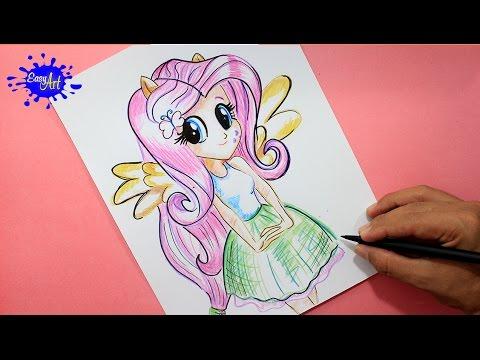 Como dibujar a Fluttershy de My Little Pony paso a paso