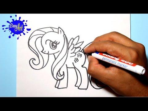 Como dibujar a Fluttershy de My Little Pony