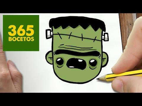 Como dibujar a Frankenstein