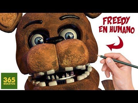 Como dibujar a Freddy de FNAF en humano