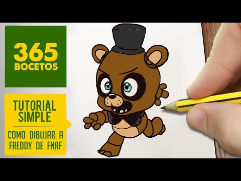 Como dibujar a Freddy de FNAF