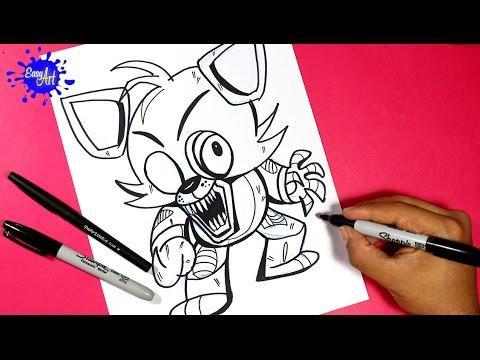 Como dibujar a Freddy Nightmare de FNAF fácil
