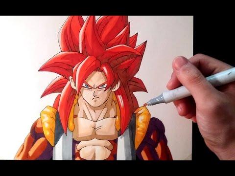 Cómo dibujar a Gogeta Super Saiyan 4