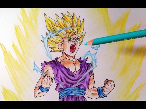 Cómo dibujar a Gohan SSJ2 (Batalla de Cell) | How to draw Gohan SSJ2