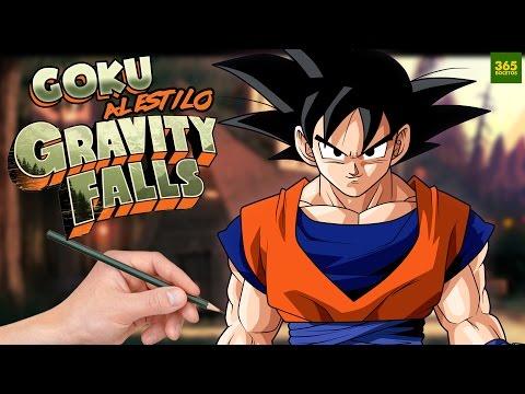 Como dibujar a Goku al estilo Gravity Falls