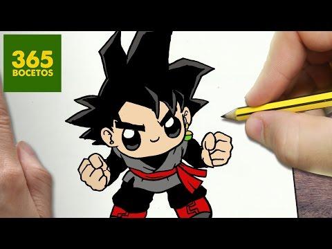 Como dibujar a Goku Black de Dragon Ball Super kawaii