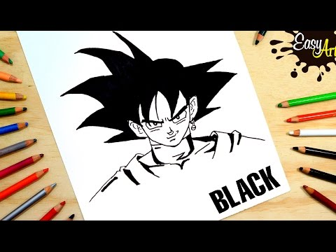 Como dibujar a Goku Black de Dragon Ball Super