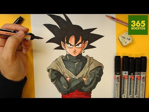 Como Dibujar A Goku Black Facil