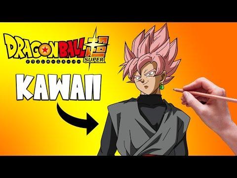 Como dibujar a Goku Black kawaii