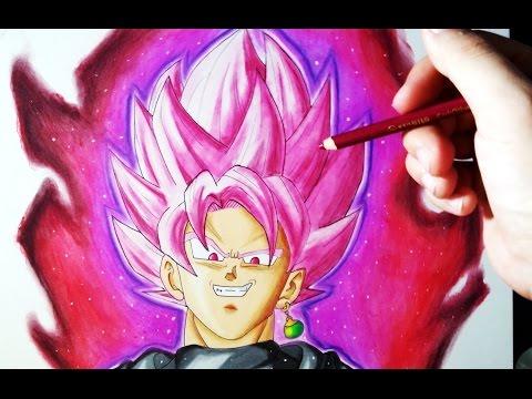 Cómo Dibujar a Goku Black Super Saiyan Rose