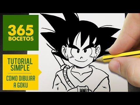 Como dibujar a Goku de Dragon Ball