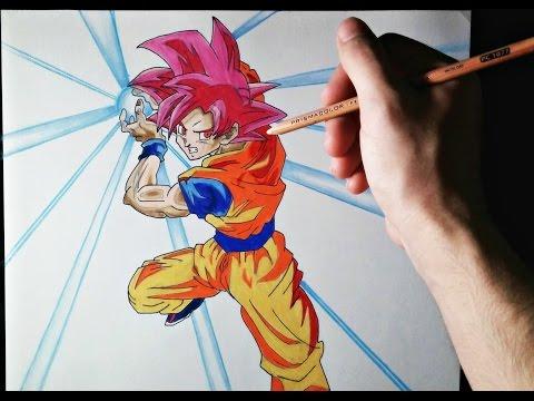 Como dibujar a Goku Dios