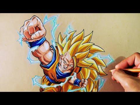 Como dibujar a Goku en SSJ3
