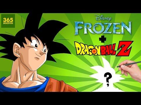 Como dibujar a Goku estilo Frozen