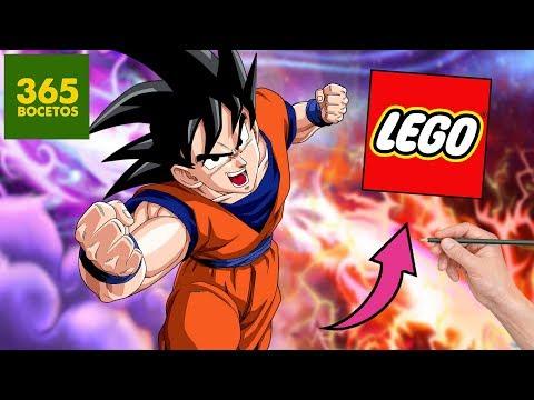 Como dibujar a Goku estilo LEGO