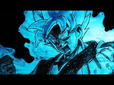 Como dibujar a Goku SSJ Dios con efecto brillante en la oscuridad