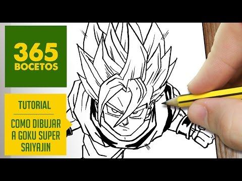Como Dibujar A Goku Ssj Facil
