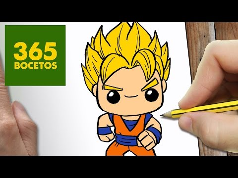 Como dibujar a Goku SSJ kawaii