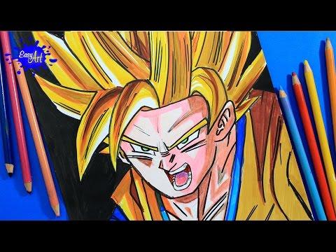 Como dibujar a Goku SSJ paso a paso