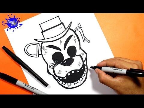 Como dibujar a Golden de FNAF