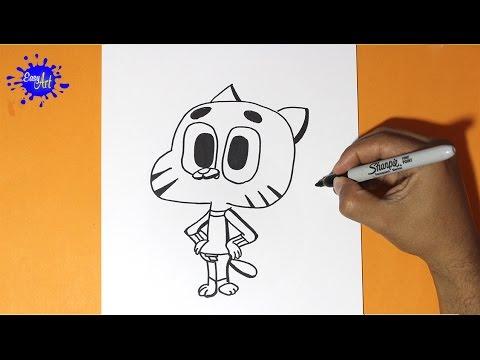 Como dibujar El Asombroso Mundo de Gumball