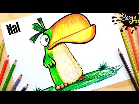Como dibujar a Hal de Angry Birds: La Película