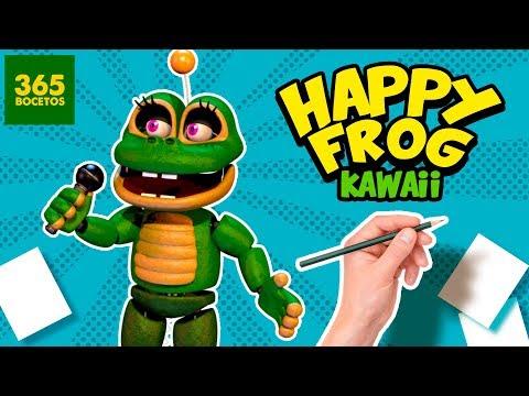 Como dibujar a Happy Frog de FNAF kawaii