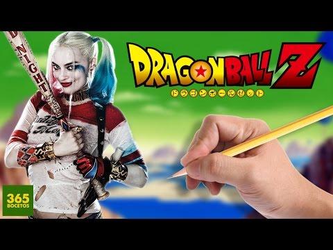 Como dibujar a Harley Quinn estilo Dragon Ball