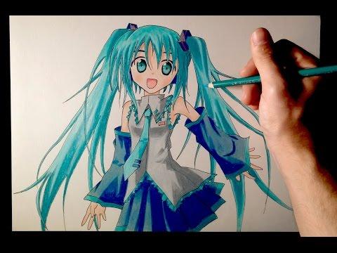 Como dibujar a Hatsune Miku