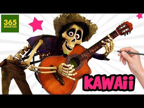 Como dibujar a Héctor de Coco kawaii