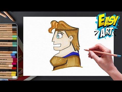 Como dibujar a Hércules de Disney