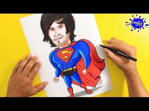 Como dibujar a HolaSoyGerman estilo Superman