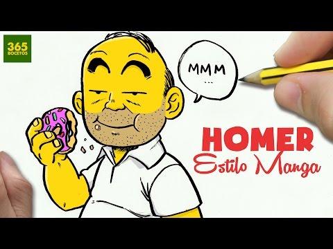 Como dibujar a Homer Simpson estilo Anime