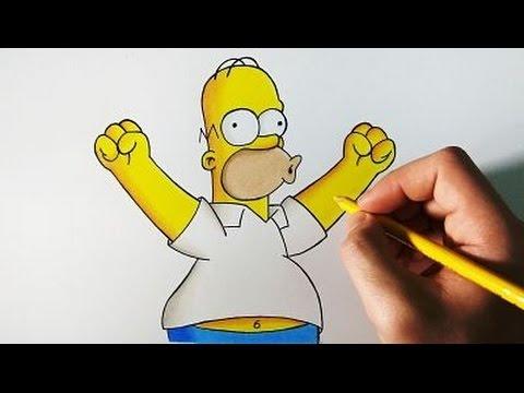Como dibujar Los Simpson