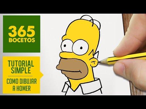 Como dibujar a Homer Simpson