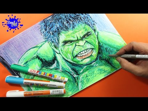 Como dibujar a Hulk de Los Vengadores