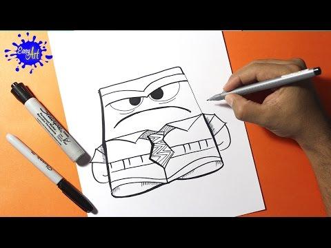 Como dibujar a Ira de Del Revés