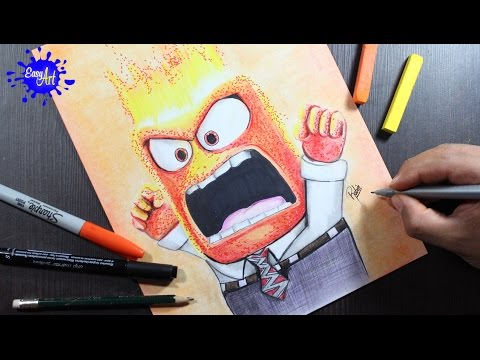 Como dibujar a Ira de Inside Out