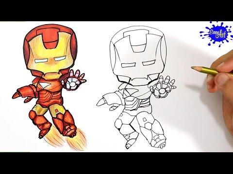 Como dibujar a Ironman paso a paso