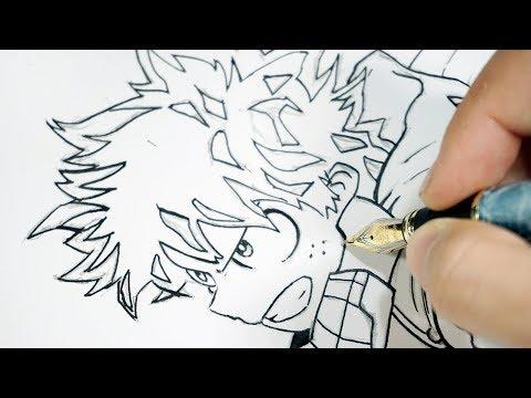 Como dibujar a Izuku Midoriya de Boku no Hero